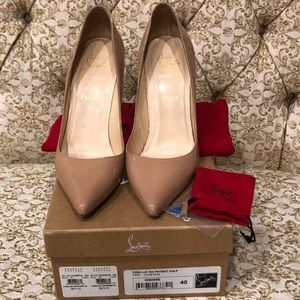 Nude patent leather Christian Louboutin
